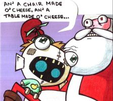 Gir and Santa Christmas Card by champythestripe