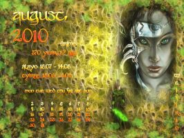 August 2010 desktop calendar by Lirulin-yirth