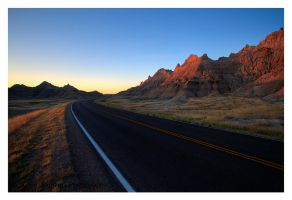 Road Through The Badlands by Julian-Bunker