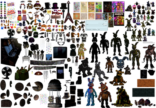 Apprenticehood 17 4 fnaf photoshop resources update 4 endoskeletons