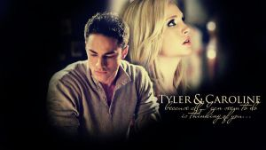 Caroline x Tyler Wallpaper by Catriiona