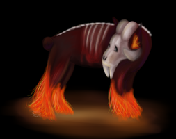 Hell hound! by TheCupcakeCow