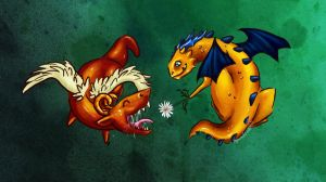 Dragon Friends by Amadoodles