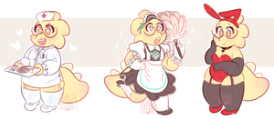 alphys outfits by dongoverlord