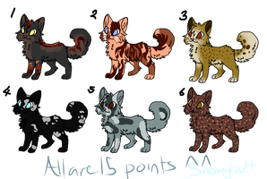 Some 15 Point Adopts by sshoes