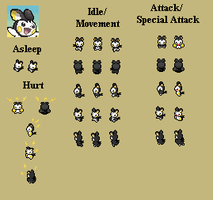 Emolga - PMD custom sprites by PowerCristal