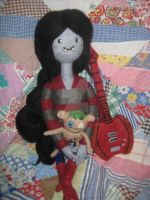 My Needle Felted Marceline, Axe Bass and Hambo by CatsFeltLings