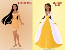 Pocahontas and Elizabeth Rolfe by KendraKickz0220