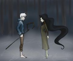 Jack Frost and Mother Nature by pistol-paintbrush493