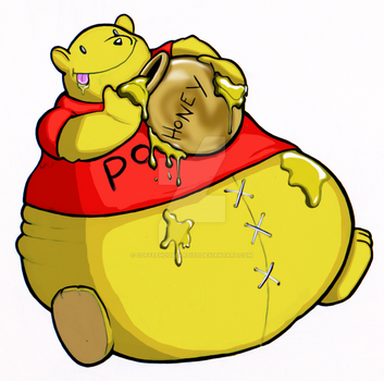 fat pooh by Coffeehouseartist