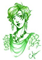 Green Girl 2 by Cofie