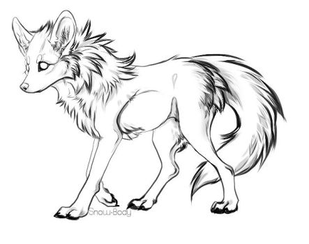 Free Canine Lineart by Snow-Body
