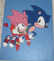 Sonic And Amy Rose by FlyingPheonix