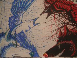 boredom at school 13 'Blue Life Red Death' by sidemoon