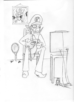 Waluigi on Wii by Linck5