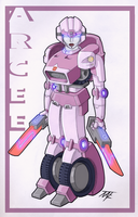 G1 Arcee redesign Coloured by Natephoenix