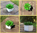 Handmade clay succulent by SculptedCreations