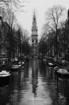 Amsterdam Church bw by donk00085