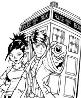 The Doctor and Martha by Sideways8Studios