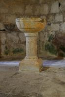 Church of Larressingle - Holy Water Font by Aude-la-randonneuse
