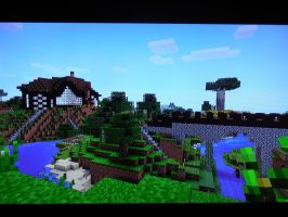 Minecraft world from another view... by evangeline40003