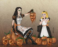 Alice vs Alice: Pumpkin Carving by mcat711