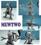 Mewtwo Sculpture: Collage by ClayPita