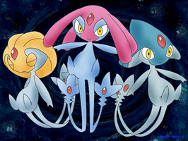 PS Colored Legendary Trio by rosa-pegasus