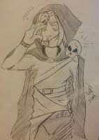 Sketch Commish: Thanatos and Bonifatius by Swamnanthas