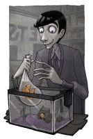 Roger and his Goldfish by GollyAbsolutely