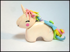 Pastel Unicorn Figure by GrandmaThunderpants