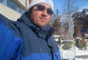 Me and Horse Ice Sculpture by Codetski101