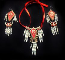 horde-style necklace + earring by oione