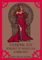 Steampunk Jess Qwertee Print by khallion