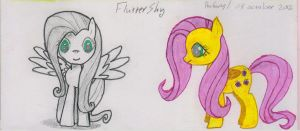 Fluttershy 1 (sketch) by Whisperer-of-Winds