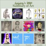 Art Summary of 2014 by FreakIveek