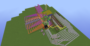 Tic Tac Toe Redstone Build - Overhead View 4 by bugworlds