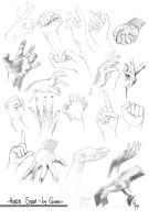 Hands Study by Charneco