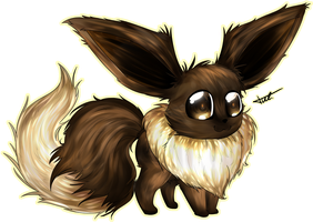 Eevee + speedpaint by TVZRandomness
