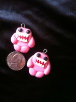 Pink Domo Kun Charm by Keykee88