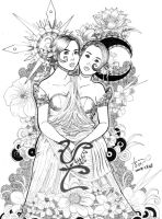 Conjoined Filipina Twins. by Hey-Poo-Guy