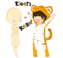 :COLLAB: Tiger's Eye's Rawr by AdorableEvil29