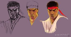 Ryu Face Concept 1 by wick3dsono