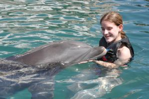Swimming with Dolphins by Crystal-Ice47