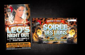 leo's night out flyer 2 by sounddecor