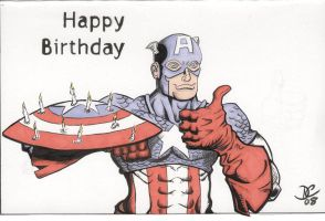 Captain America Birthday Card by The-Standard