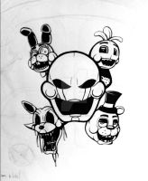 Five Night's at Freddy's 2 Shirt Design (W.I.P.) by Primogenitor34