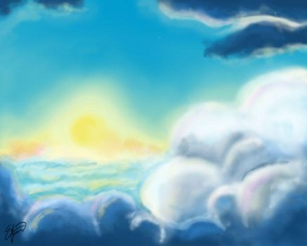 Above the Clouds by Erikagieseke