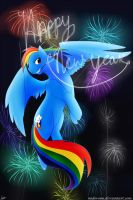 Happy New Year Rainbow Dash Style by Midoromi