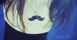 mustache necklace by seasfairytale